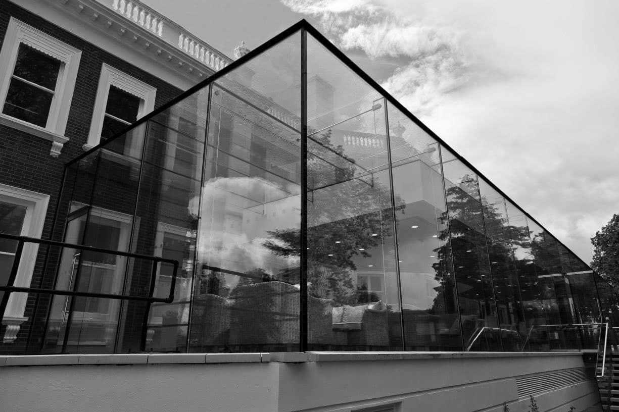 london glass extension project