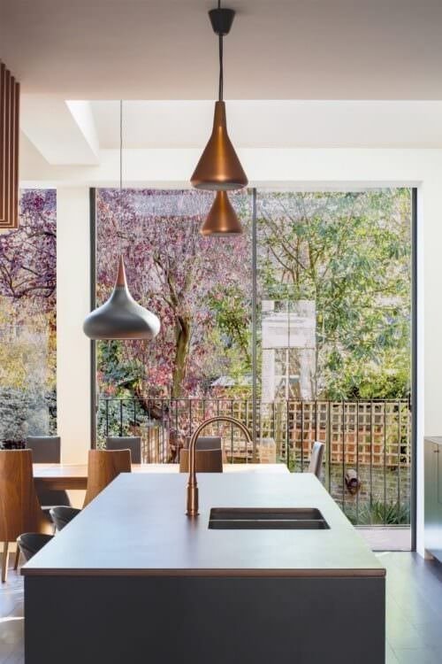 aluminium sliding doors project in Richmond, London