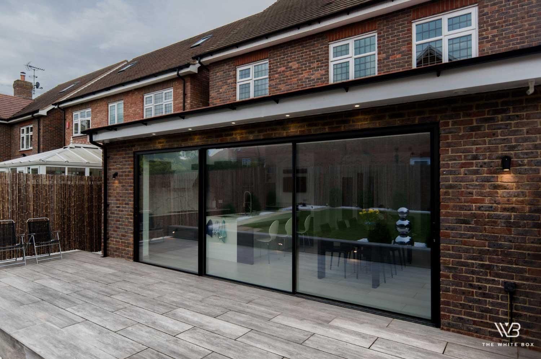aluminium sliding doors project flora close, uk