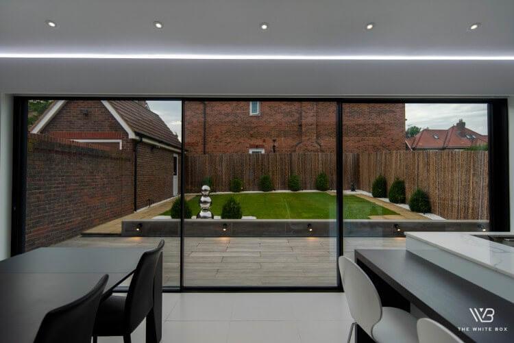 black aluminium sliding doors installed in UK