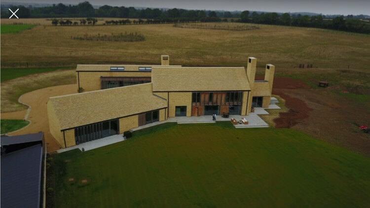 Hannington farm structural glazing