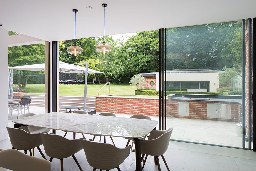 slimline aluminium sliding doors London