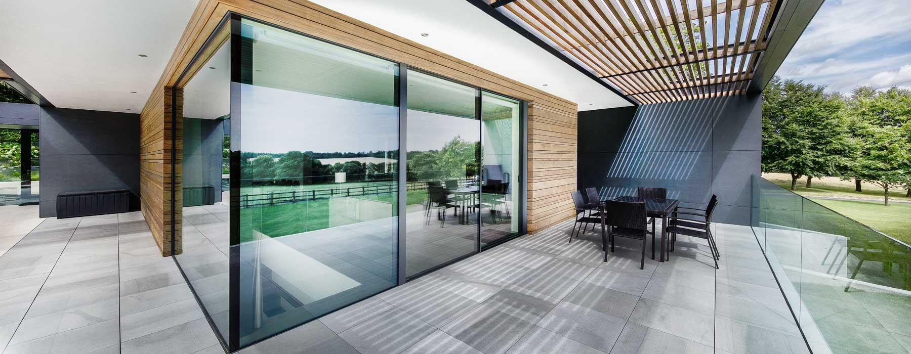 london minimal frame sliding doors